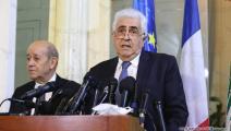 وزير الخارجية اللبناني ناصيف حتّي-حسين بيضون