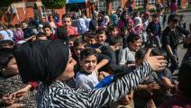 مدرسة سورية في تركيا (أوزان كوزي/ فرانس برس)