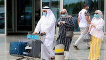 مغادرون عبر مطار الكويت الدولي (ياسر الزيات/ فرانس برس)