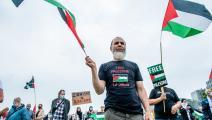 - وقفة احتجاجية في أمستردام دعما لفلسطين ضد العنصرية الصهيونية (رومي فيرنانديز/Getty)