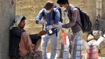 عاملان إنسانيان متطوعان في اليمن- فرانس برس