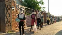 أطفال بالكمامة في زيمبابوي- فرانس برس