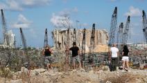 انفجار مرفأ بيروت يكبّد لبنان خسائر فادحة (أنور عمرو/ فرانس برس)