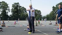 الرئيس الوزراء البريطاني بوريس جونسون يزور المدارس في لندن