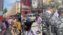 """تظاهرات المنشية ضد إزالة """"المخالفات"""" (تويتر)"""