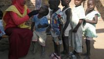 إحدى حملات اللقاحات ضد شلل الأطفال (عصام الحاج/ فرانس برس)