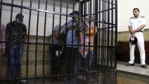 """متهمون بما تسميه السلطات المصرية """"الشذوذ الجنسي"""" في قفص الاتهام (الأناضول)"""