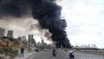 حريق في مرفأ بيروت (حسين بيضون)