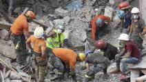 آثار الدمار بعد انفجار المرفأ (سام تارلينغ/ Getty)