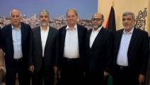 الرجوب خلال اللقاء مع حماس