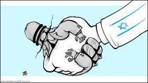 كاريكاتير تطبيع الانظمة / حجاج