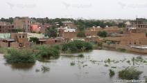 ارتفاع منسوب الفيضان في جزيرة توتي السودانية (العربي الجديد)