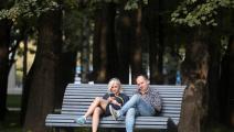 ثنائي بحديقة في موسكو- Getty