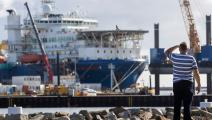 سفينة روسية تمد أنابيب نورد ستريم 2 تحت بحر البلطيق