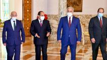 السيسي وصالح وحفتر وكامل (الرئاسة المصرية)