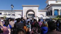 الصحافيون التونسيون يحتجون أمام البرلمان: #تنقيح_116_مايتعداش
