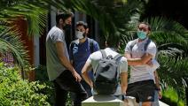 طلاب لبنانيون في إحدى الجامعات (جوزيف عيد/ فرانس برس)