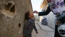 حملة تلقيح ضد شلل الأطفال (عارف وتد/ فرانس برس)