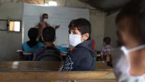 عاد تلاميذ إدلب إلى مدارسهم (محمد عبدالله/ الأناضول)