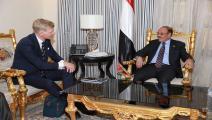 نائب الرئيس اليمني يلتقي سفير الاتحاد الأوروبي لدى اليمن (تويتر)