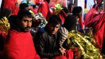 مهاجرون وصلوا إلى مليلة (كريستيان كالفو/ Getty)