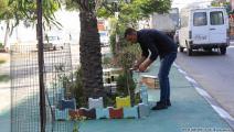 تزيين شارع في غزة (عبد الحكيم أبو رياش)