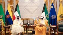 سياسة/أمير الكويت ووزير خارجية قطر/(قنا)