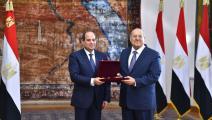 سياسة/السيسي وعبد الوهاب عبد الرزاق/(مجلس الشيوخ المصري)