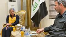 سياسية/بلاسخارت وعبد العزيز المحمداوي/(تويتر)