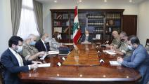 ترأس عون اجتماعاً للوفد اللبناني (تويتر)
