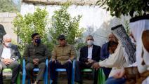 سياسة/مثطفى الكاظمي خلال زيارته الفرحاتية/(تويتر)