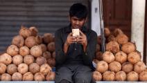 باكستان هواتف ذكية aamir qureshi/afp