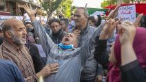 تظاهرة ضد الرسوم المسيئة في تونس الخميس (ياسين قايدي/ الأناضول)