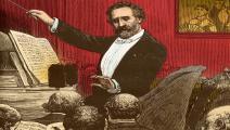 فيردي في رسمة لـ أدريان ماري ضمن جريدة فرنسية 1880