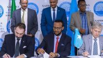 توقيع اتفاقية في الصومال (تويتر)