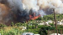 تحذيرات من وصول حرائق اللاذقية إلى 150 طن من نترات الأمونيوم (فيسبوك)