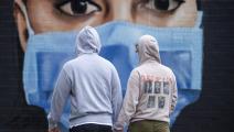 تحرص البلاد على التوعية حول ضرورة وضع كمامات (جاستن سيترفيلد/ Getty)