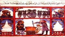 من مخطوط عربي يعود إلى القرن الثاني عشر ميلادي (Getty)