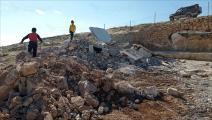 قوات الاحتلال هدمت أربعة منازل مأهولة بالسكان بمنطقتي الركيز وخلة الضبع (العربي الجديد)