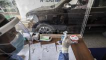اختبارات كورونا في مصر (خالد دسوقي/ فرانس برس)