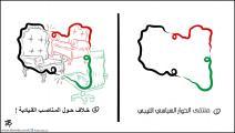 كاريكاتير الحوار الليبي / حجاج