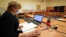 تعليم عن بعد (فياشسلاف بروكوفييف/ Getty)