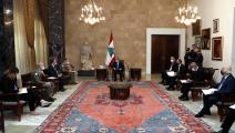 من لقاء الرئيس اللبناني وقائد القوات الدولية العاملة في الجنوب(تويتر)