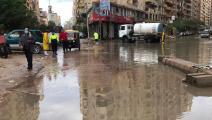 أغرقت مياه الأمطار شوارع القاهرة (تويتر)