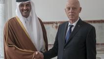 أمير دولة قطر خلال زيارته تونس في فبراير/ الأناضول