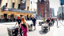عاملون في قطاع الموسيقى ببريطانيا يحتجون على أوضاعهم خلال أغسطس/ آب (Getty)