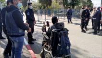 إعتصام ذوو الإعاقة- فلسطين (العربي الجديد)