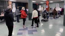 مركز تصويت في مدينة ديترويت في ولاية ميشيغان