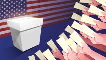 عملية التصويت في الانتخابات الرئاسية الأميركية
