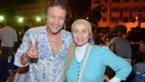 غادة نجيب وزوجها هشام عبد الله (فيسبوك)